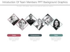 Introduction Of Team Members Ppt Background Graphics