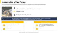 Introduction Of The Project Ppt Portfolio Graphic Images PDF