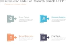 Introduction Slide For Research Sample Of Ppt