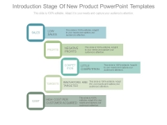 Introduction Stage Of New Product Powerpoint Templates