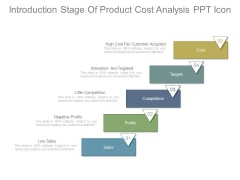 Introduction Stage Of Product Cost Analysis Ppt Icon
