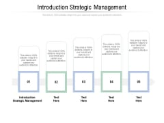 Introduction Strategic Management Ppt PowerPoint Presentation Pictures Example Introduction Cpb Pdf