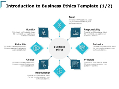 Introduction To Business Ethics Morality Ppt PowerPoint Presentation Icon Layout Ideas