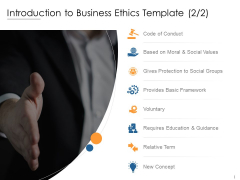 Introduction To Business Ethics Social Values Ppt PowerPoint Presentation File Good
