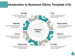 Introduction To Business Ethics Template Behavior Ppt PowerPoint Presentation Portfolio Clipart Images