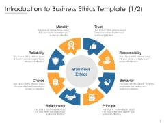 Introduction To Business Ethics Template Trust Ppt PowerPoint Presentation Show Infographics