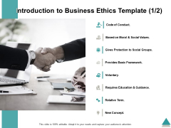 Introduction To Business Ethics Template Voluntary Ppt PowerPoint Presentation Summary Outfit