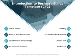 Introduction To Business Ethics Voluntary Ppt PowerPoint Presentation Slides Brochure