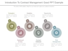 Introduction To Contract Management Good Ppt Example