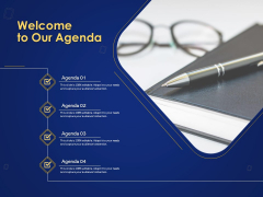 Introduction To Digital Marketing Models Welcome To Our Agenda Ppt Summary Outline PDF