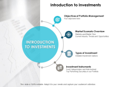 Introduction To Investments Ppt PowerPoint Presentation Pictures Samples