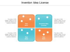 Invention Idea License Ppt PowerPoint Presentation Design Templates Cpb