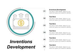 Inventions Development Ppt PowerPoint Presentation Show Demonstration Cpb