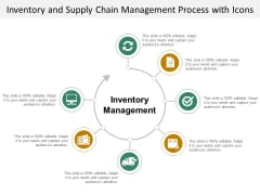 Inventory And Supply Chain Management Process With Icons Ppt PowerPoint Presentation Outline Outfit
