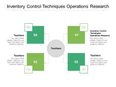 Inventory Control Techniques Operations Research Ppt PowerPoint Presentation Infographic Template Backgrounds Cpb Pdf