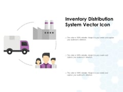Inventory Distribution System Vector Icon Ppt PowerPoint Presentation Pictures Background Images