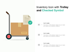 Inventory Icon With Trolley And Checked Symbol Ppt PowerPoint Presentation File Guide