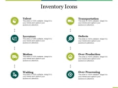 Inventory Icons Ppt PowerPoint Presentation Portfolio Design Ideas