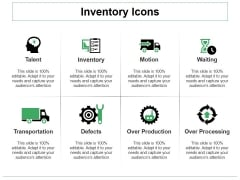 Inventory Icons Ppt PowerPoint Presentation Professional Background
