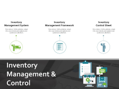 Inventory Management And Control Ppt PowerPoint Presentation File Topics