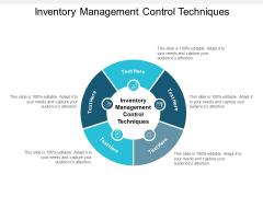 Inventory Management Control Techniques Ppt PowerPoint Presentation Slides Maker Cpb Pdf