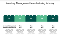 Inventory Management Manufacturing Industry Ppt PowerPoint Presentation Infographic Template Backgrounds Cpb