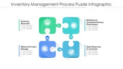 Inventory Management Process Puzzle Infographic Ppt Show Examples PDF