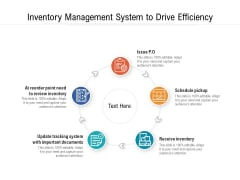 Inventory Management System To Drive Efficiency Ppt PowerPoint Presentation File Graphics Pictures PDF