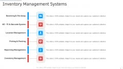 Inventory Management Systems Manufacturing Control Ppt Infographics Background Image PDF