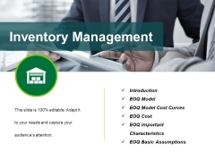 Inventory Management Template 1 Ppt PowerPoint Presentation Ideas Show
