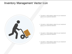 Inventory Management Vector Icon Ppt PowerPoint Presentation Model Objects