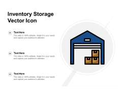 Inventory Storage Vector Icon Ppt PowerPoint Presentation Ideas Show