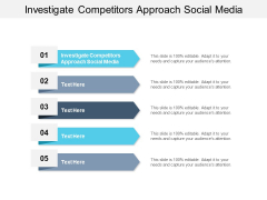 Investigate Competitors Approach Social Media Ppt PowerPoint Presentation Model Format Ideas Cpb Pdf