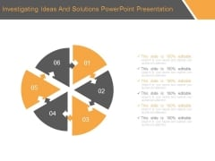 Investigating Ideas And Solutions Powerpoint Presentation
