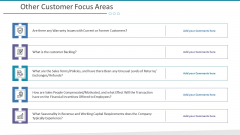 Investigation For Business Procurement Other Customer Focus Areas Ppt Pictures Icon PDF