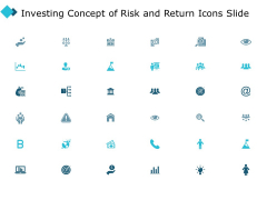 Investing Concept Of Risk And Return Icons Slide Arrow Ppt PowerPoint Presentation Visual Aids Professional