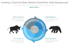 Investing In Bull And Bear Markets Powerpoint Slide Backgrounds