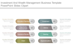 Investment And Wealth Management Business Template Powerpoint Slides Clipart
