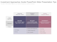 Investment Approaches Guide Powerpoint Slide Presentation Tips