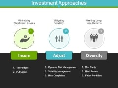 Investment Approaches Template 1 Ppt Powerpoint Presentation Professional Background Designs