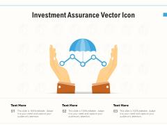 Investment Assurance Vector Icon Ppt PowerPoint Presentation Portfolio Gridlines PDF