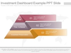 Investment Dashboard Example Ppt Slide