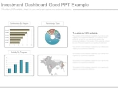 Investment Dashboard Good Ppt Example