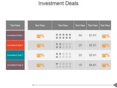 Investment Deals Ppt PowerPoint Presentation Designs Download