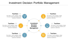 Investment Decision Portfolio Management Ppt PowerPoint Presentation Infographic Template Background Images Cpb