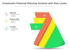 Investment Financial Planning Pyramid With Risk Levels Ppt PowerPoint Presentation Summary Graphics Pictures PDF
