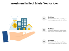 Investment In Real Estate Vector Icon Ppt PowerPoint Presentation Portfolio Show PDF