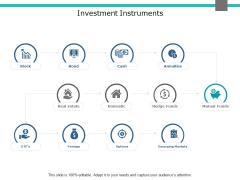 Investment Instruments Ppt PowerPoint Presentation Portfolio Graphics Design
