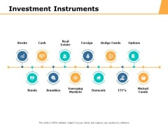 Investment Instruments Ppt PowerPoint Presentation Summary Graphics Template