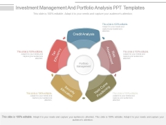 Investment Management And Portfolio Analysis Ppt Templates